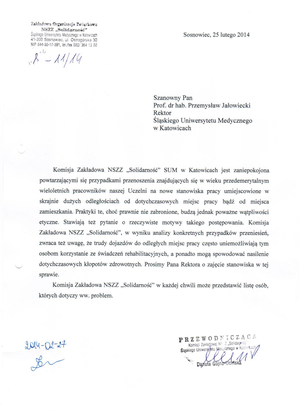 Pismo do rektora